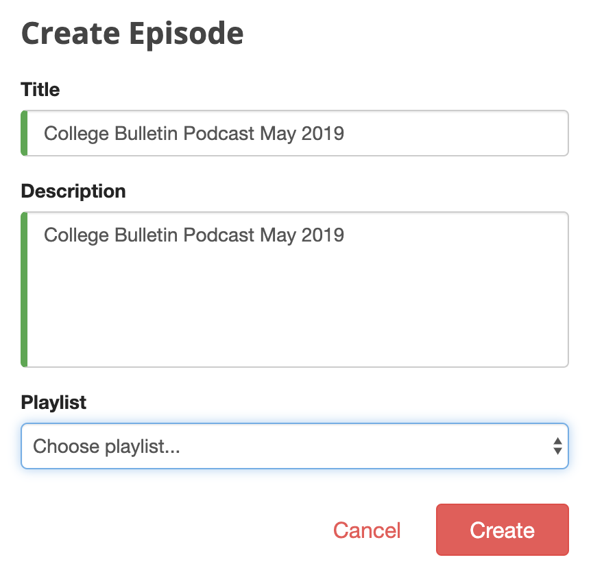 create a podcast episode